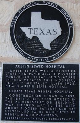 Austin State Hospital Marker image. Click for full size.