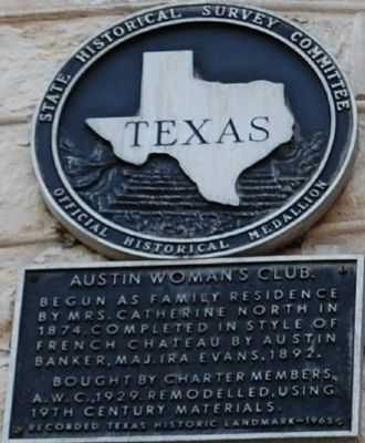 Austin Woman's Club Marker image. Click for full size.