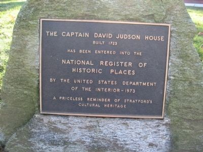 Captain David Judson House Marker Photo, Click for full size