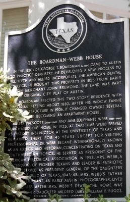 The Boardman-Webb House Marker image. Click for full size.