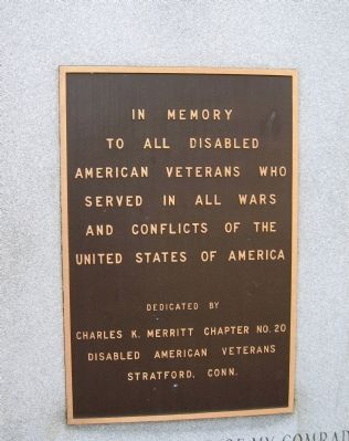 Stratford Disabled American Veterans Memorial image. Click for full size.