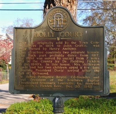 Holly Court Marker image. Click for full size.