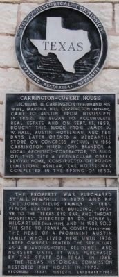 Carrington-Covert House Marker image. Click for full size.