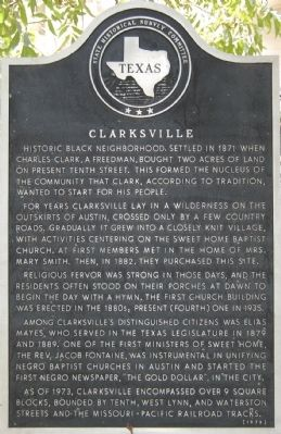Clarksville Marker Photo, Click for full size