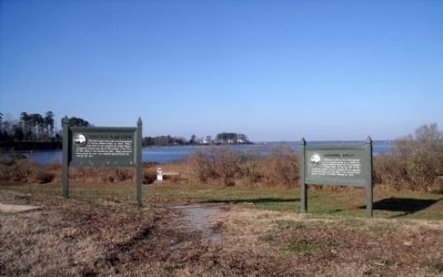 Ringfield Plantation and Nathaniel Bacon markers image. Click for full size.