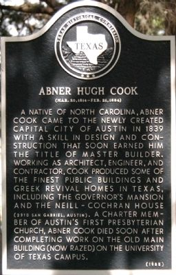 Abner Hugh Cook Marker Photo, Click for full size