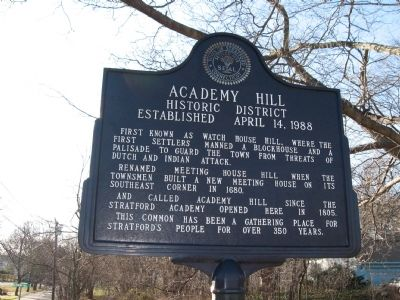 Academy Hill Historic District Marker image. Click for full size.