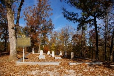 Battle of Kettle Creek Marker and Cemetery Photo, Click for full size