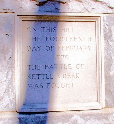 The Battle of Kettle Creek Marker (Front) image. Click for full size.