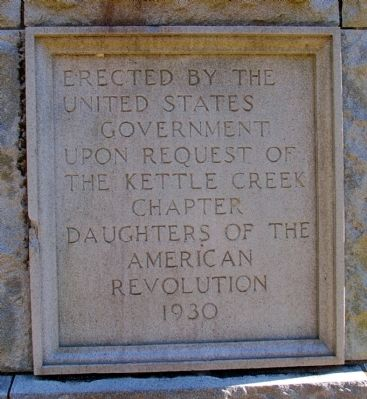 The Battle of Kettle Creek Marker (Rear) image. Click for full size.