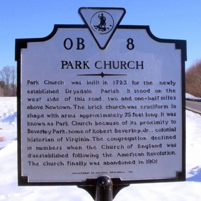 Park Church Marker image. Click for full size.
