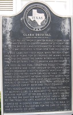 Clara Driscoll Marker Photo, Click for full size