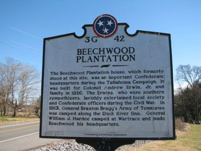Beechwood Plantation Marker image. Click for full size.