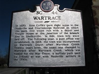 Wartrace Marker image. Click for full size.