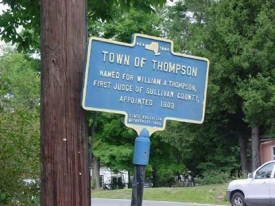 Town of Thompson Marker image. Click for full size.