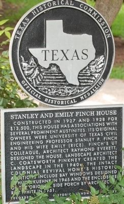Stanley and Emily Finch House Marker image. Click for full size.
