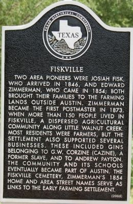 Fiskville Marker Photo, Click for full size