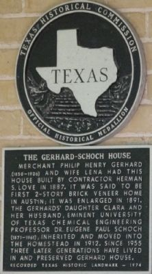 Gerhard-Schoch House Marker image. Click for full size.