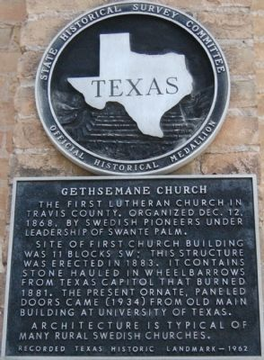 Gethsemane Church Marker image. Click for full size.