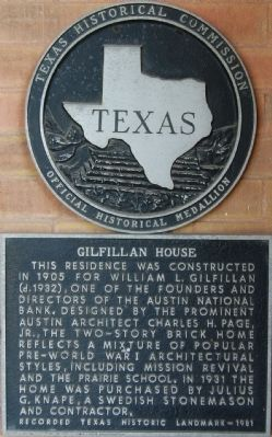 Gilfillan House Marker image. Click for full size.