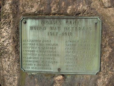 Nichols, Conn. World War Veterans Memorial image. Click for full size.