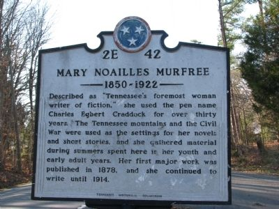 Mary Noailles Murfree Marker image. Click for full size.
