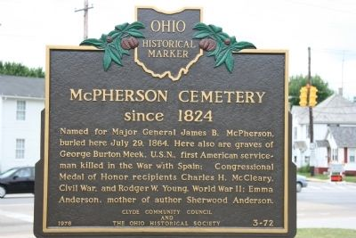 McPherson Cemetery Marker image. Click for full size.