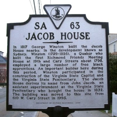 Jacob House Marker image. Click for full size.