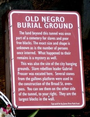 Old Negro Burial Ground Marker image. Click for full size.