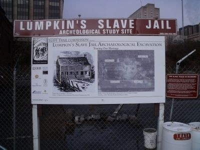 Lumpkin's Slave Jail archeological study site image. Click for full size.