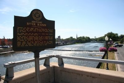 Historic River Raisin Marker image. Click for full size.