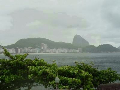 View from the casemate toward the north end of Copacabana Beach image. Click for full size.