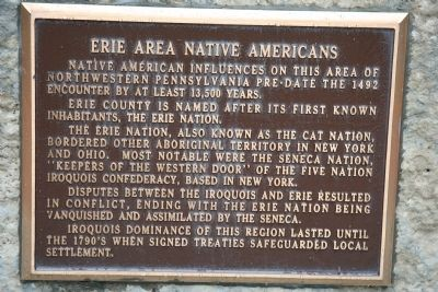 Erie Area Native Americans Marker Photo, Click for full size