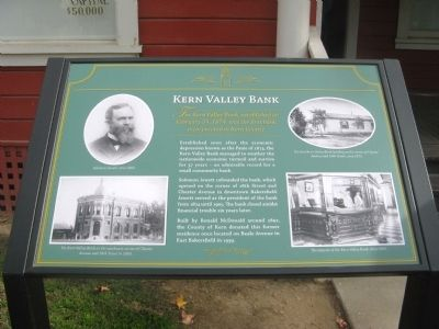 Kern Valley Bank Marker image. Click for full size.