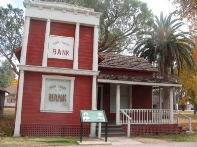 Kern Valley Bank Building and Marker image. Click for full size.
