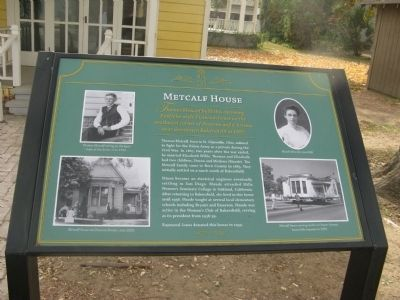 Metcalf House Marker image. Click for full size.