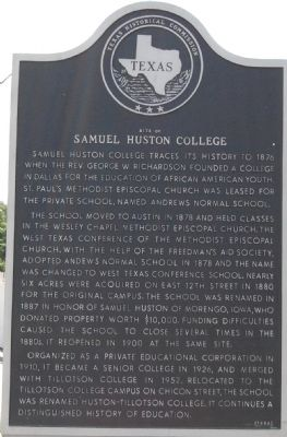 Site of Samuel Huston College Marker image. Click for full size.