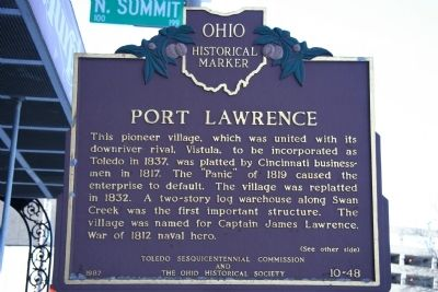 Port Lawrence Marker Photo, Click for full size
