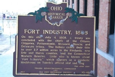 Fort Industry, 1805 Marker Photo, Click for full size