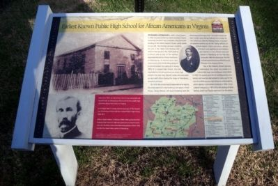 Earliest Known Public High School For African Americans in Virginia CRIEHT Marker image. Click for full size.