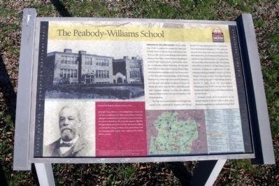 The Peabody-Williams School CRIEHT Marker Photo, Click for full size