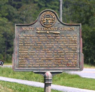White Methodist Church Marker image. Click for full size.
