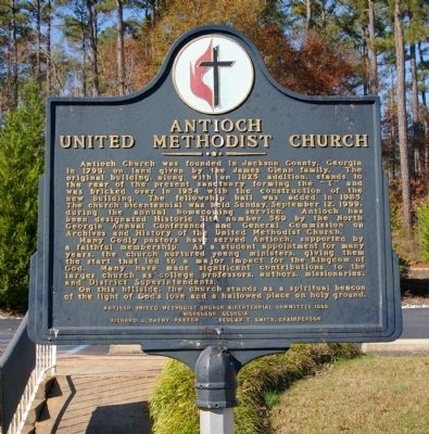 Antioch United Methodist Church Marker image. Click for full size.