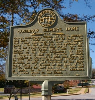 Governor Gilmer's Home Marker image. Click for full size.
