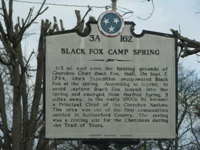 Black Fox Camp Spring Marker Photo, Click for full size