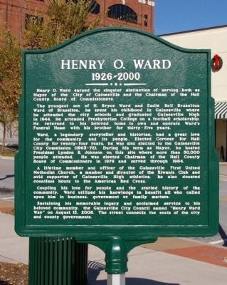 Henry O. Ward Marker Photo, Click for full size
