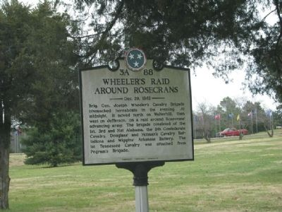 Wheeler's Raid around Rosecrans Marker Photo, Click for full size