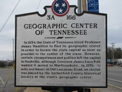 Geographic Center of Tennessee Marker image. Click for full size.