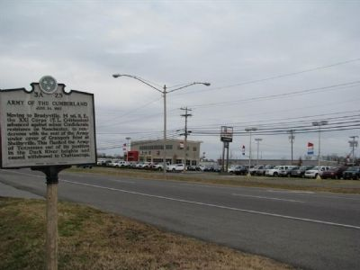 Army of the Cumberland Marker, area image. Click for full size.