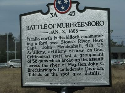 Battle of Murfreesboro Marker image. Click for full size.